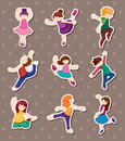 Dancer stickers Royalty Free Stock Images
