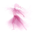 Dancer vector delicate feminine dance Royalty Free Stock Images
