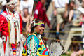 Native American Dancer waiting to compete--Stock photos Royalty Free Stock Photo