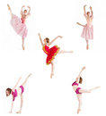 Dancers collage Royalty Free Stock Photos