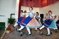 Dancers dancing in traditional slovak costumes torocko rimetea aug folklore clothes participating the hungarian folklore festival Stock Images