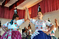 Dancers dancing in traditional slovak costumes torocko rimetea aug folklore clothes participating the hungarian folklore festival Stock Photos