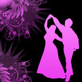 Dancers with grunge vector Royalty Free Stock Image