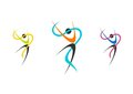 dancers, logo, wellness, ballerina, set ballet illustration,fitness,dancer,sport,people nature Royalty Free Stock Photo