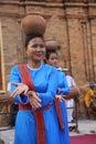 Dancers performing traditional Cham dances at Po Nagar, Nha Trang