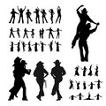 Dancers silhouette Stock Images