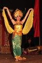 Dances in bali indonesia august traditional balinese legong dance is performed by the jaya semara troup the village of sebatu Royalty Free Stock Image