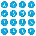 Dances icon blue