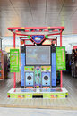 Dancing arcade machine Stock Photo