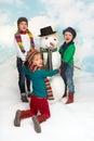 Dancing around the snowman