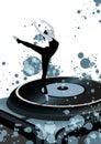 Dancing Balerina on vinyl Royalty Free Stock Photo