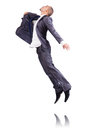 Dancing businessman isolated Royalty Free Stock Photos