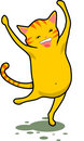 Dancing Cat Royalty Free Stock Photos