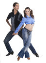 Dancing couple isolated over white background Royalty Free Stock Photos