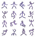 Dancing figures Stock Photos