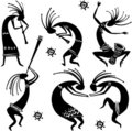 Dancing figures Royalty Free Stock Photo