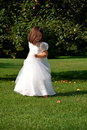 Dancing Flower Girl Stock Photo