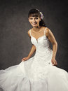 Dancing Funny Bride in Wedding Dress, Emotional Bridal Portrait Royalty Free Stock Photo