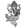 Dancing Ganesha Icon Royalty Free Stock Photo