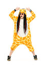 Dancing giraffe Royalty Free Stock Photo