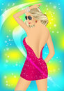 Dancing girl in the night club Royalty Free Stock Photo