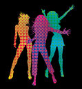 Dancing girls. Royalty Free Stock Image