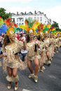 Dancing girls on a carnaval parade Royalty Free Stock Photography