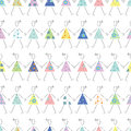 Dancing girls in colorful dresses background flowery and polka dot pattern on white Royalty Free Stock Photos