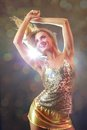 Dancing glamorous girl Stock Photography