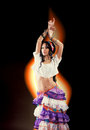 Dancing Gypsy girl Royalty Free Stock Photo