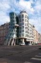 Dancing house building in downtown prague Royalty Free Stock Image