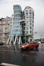 Dancing House in the center of Prague Royalty Free Stock Image