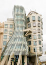 The dancing house fred and ginger the nationale nederlanden or building in prague czech republic Royalty Free Stock Image