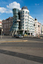 Dancing House on May 9 in Prague, Chech Re Royalty Free Stock Photo