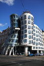 Dancing house in the Prague Stock Photography