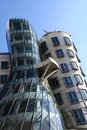 Dancing house in the Prague Stock Images