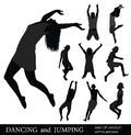 DANCING and JUMPING. Royalty Free Stock Photos