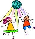 Dancing kids Stock Image