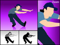 Dancing male with cap Royalty Free Stock Image