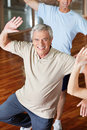 Dancing man in fitness center Stock Photo