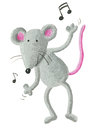 Dancing mouse Royalty Free Stock Photo