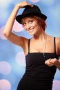Dancing party girl Stock Image