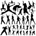 Dancing and party people vector Royalty Free Stock Image