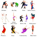 Dancing People, Dancer Bachata, Hiphop, Salsa, Indian, Ballet, Strip, Rock and Roll, Break, Flamenco, Tango Royalty Free Stock Photo