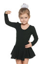 Dancing pretty little girl portrait of a against the white background Royalty Free Stock Photography