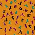 Dancing Seamless Pattern