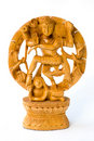 Dancing Shiva. Wooden statue Royalty Free Stock Images