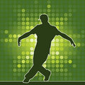 Dancing silhouette, breakdance Stock Images