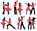 Dancing silhouettes. Royalty Free Stock Photo