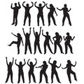 Dancing silhouettes Royalty Free Stock Images